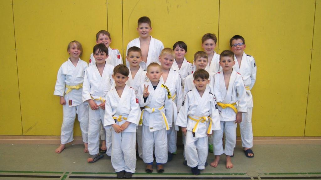 Gruppenbild Judokas Schwedt